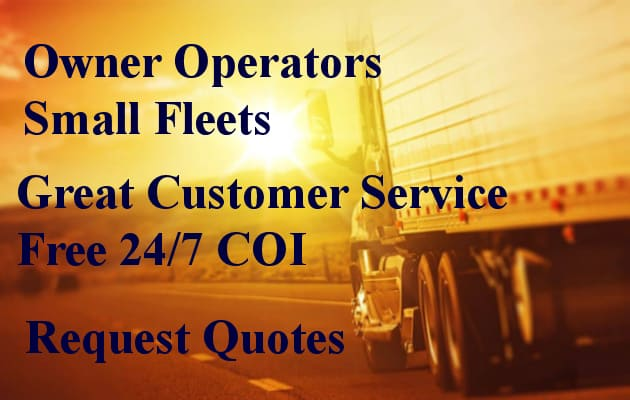 owner operator commercial truck insurance quotes small truck fleet insurance